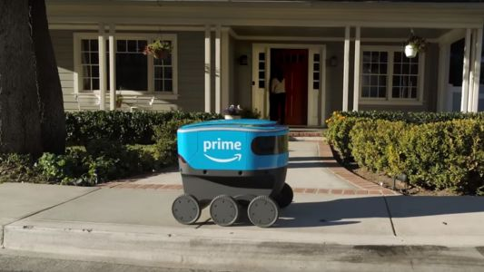 Amazon tries delivering parcels using six-wheeled robot couriers
