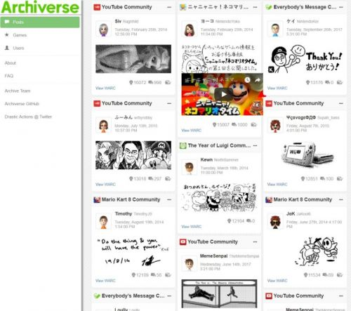 Missing Nintendo's Miiverse network? Check out this 17TB online archive