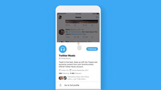 Twitter testing new pop-up design for quickly viewing profile details on iOS