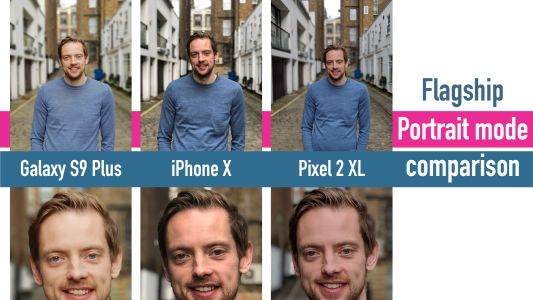 Samsung Galaxy S9 Plus vs iPhone X vs Google Pixel 2 XL portrait mode comparison