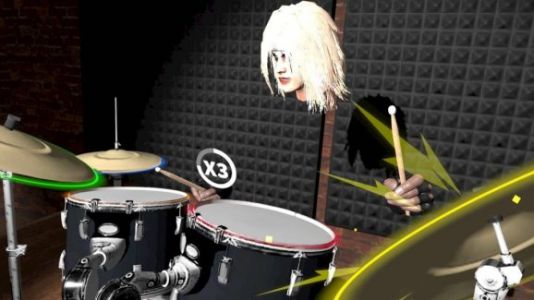 Riff is Rock Band for VR without the plastic guitars and drums