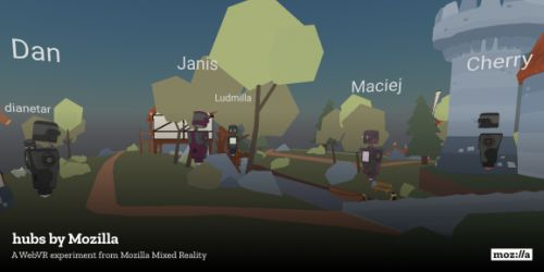 Mozilla launches Hubs, a social browser-based WebVR experiment