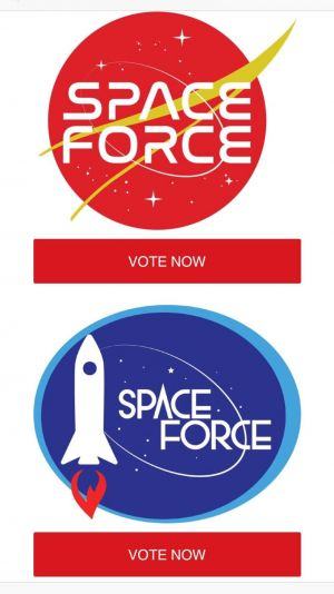 These are the logos the Trump campaign is offering the Space Force