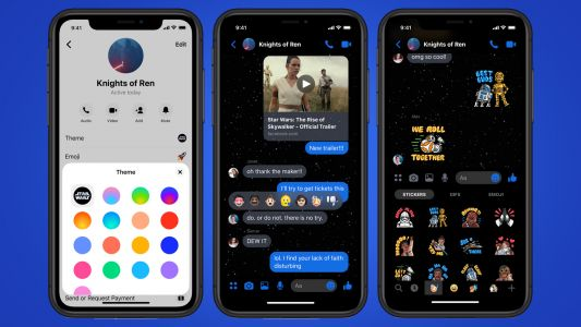 Facebook Messenger has a new Star Wars-themed dark mode - here's how to try it