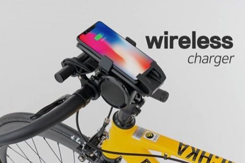 Black Horn bike phone holder complete with wireless charger hits Kickstarter