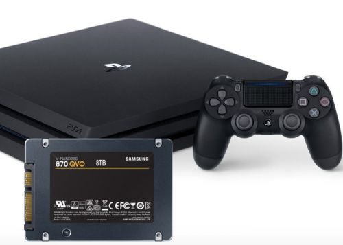 PlayStation 4 Pro upgraded with 8TB QVO 870 SSD