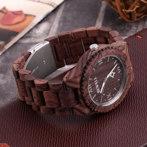 Keep the time in style with a $13 Bewell wooden watch