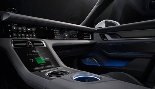 This is the interior on the new Porsche Taycan