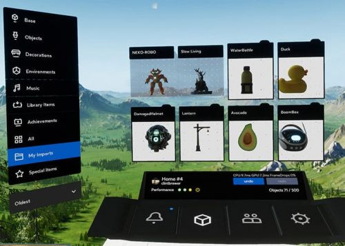 Oculus Home Update Adds VR Object Imports And More