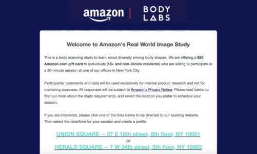 Give Amazon A 3D Scan Of Your Body, Get A $25 Gift Card