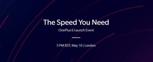 OnePlus 6 Confirmed For May 16 Announcement