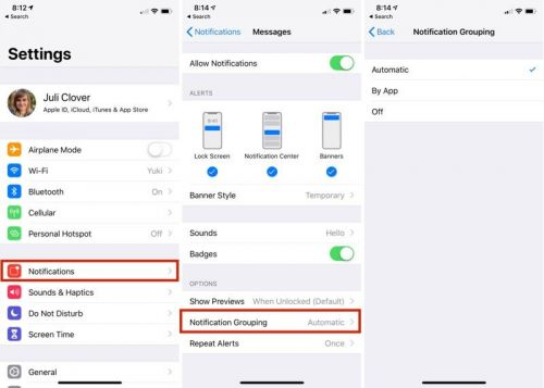 How to Customize Grouped Notifications in iOS 12