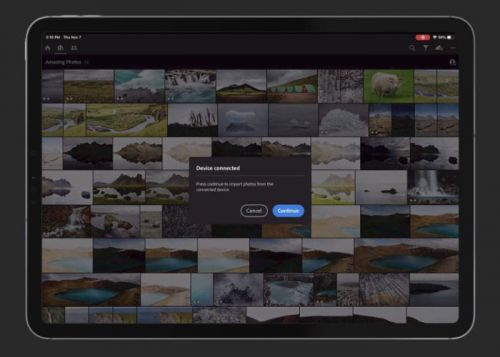 Adobe Lightroom iPad app will soon be able to directly import photos