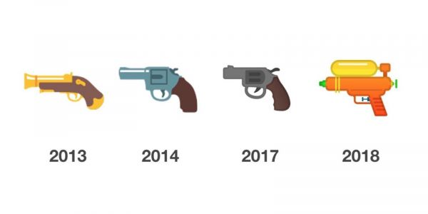 Google follows Apple & Samsung in switching to water pistol for the gun emoji