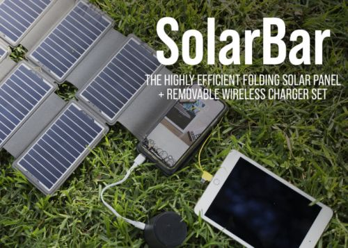 SolarBar 20w portable solar charger from $69