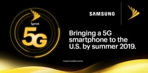 Sprint 5G Samsung Smartphone and Sprint TREBL at CES 2019