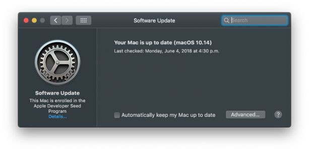MacOS 10.14 Mojave Removes Software Update Mechanism From the Mac App Store and Returns it to System Preferences