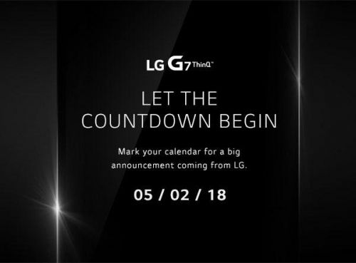 LG Sends Out May 2 Invite For G7 ThinQ Announcement