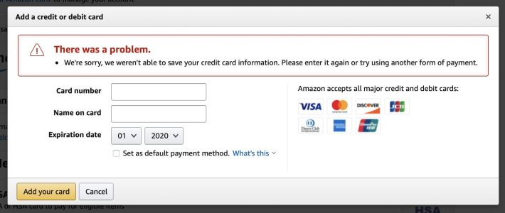 Amazon Inexplicably Removes Apple Card From Payment Options