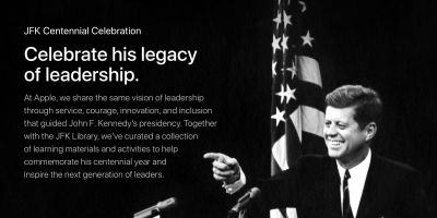 Apple commemorates JFK's centennial year with educational resources & more