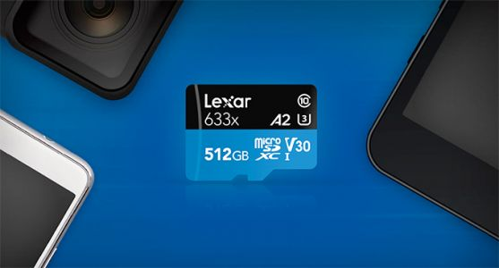 Lexar Launches 512 GB microSD Card with A2 App Performance Spec