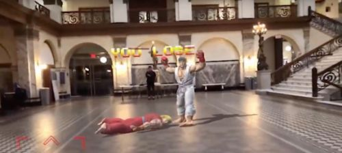 Street Fighter II's world warriors fight on actual streets in this Apple ARKit demo