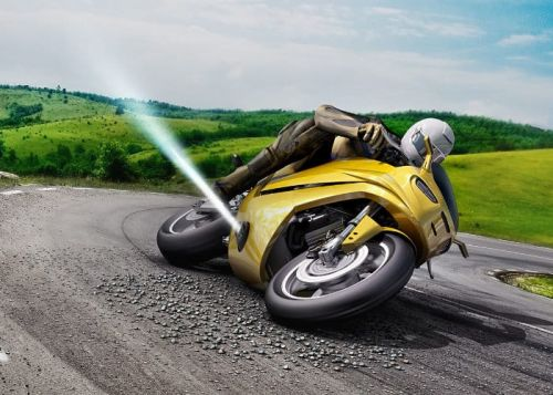 Bosch Motorcycle Jet Thruster Helps You Recover From A Skid
