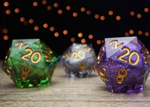 Elixir Dice handcrafted, liquid filled RPG dice