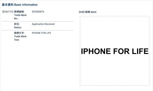 Apple Applies for Trademark of 'iPhone for Life' in Hong Kong