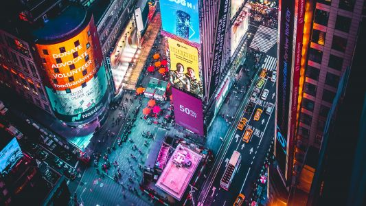 How 5G upload speeds in a crowded Times Square could reach 200Mbps