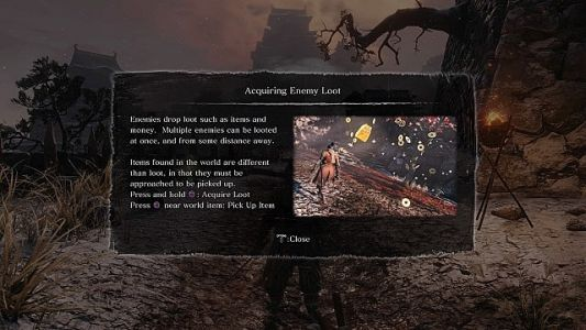 How to Pick Up Loot & Money in Sekiro: Shadows Die Twice