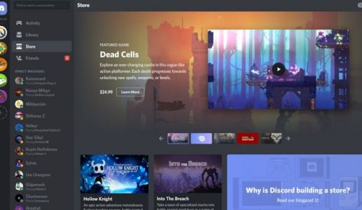 Discord offers early access games on its PC store