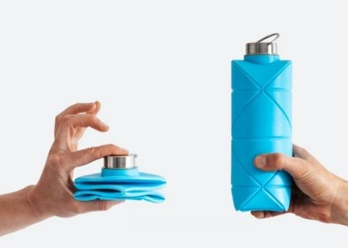 Origami inspired collapsible folding water bottle $32