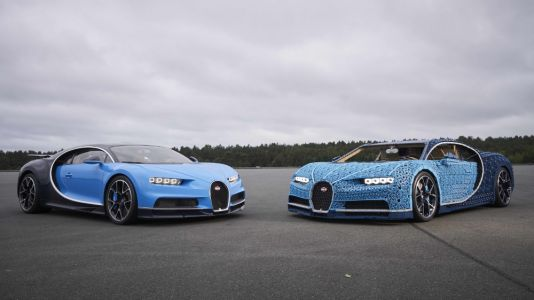 Lego Group built a full-size, driveable Bugatti Chiron - just because it can