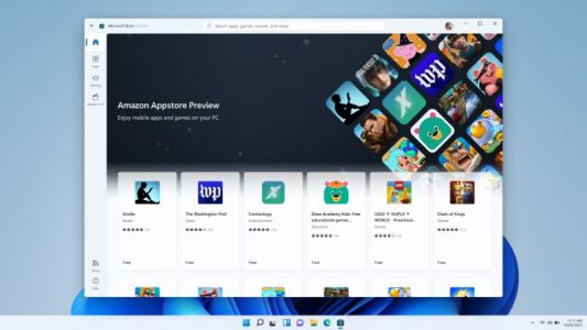 Amazon's Android apps come to the latest Windows 11 beta