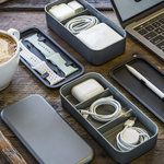 Keep all your cables and accessories organized with this cool bento box for tech