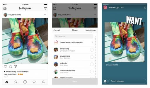 Instagram rolling out ability to share photos directly to Stories as a sticker