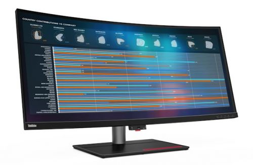 Lenovo Introduces The ThinkVision P40w: 40-inch Thunderbolt 4 Display With Intel AMT