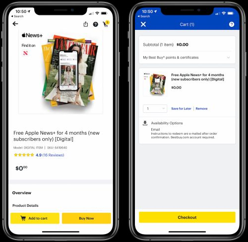 Best Buy Offering Four Months of Apple News+ at No Cost for New Subscribers