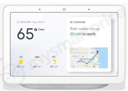 Google Home Hub Leaked Ahead Of Google October 9th Media Event