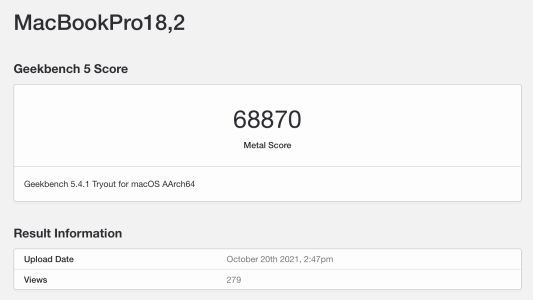 MacBook Pro's M1 Max GPU is Over 3x Faster Than M1 in First Metal Benchmark
