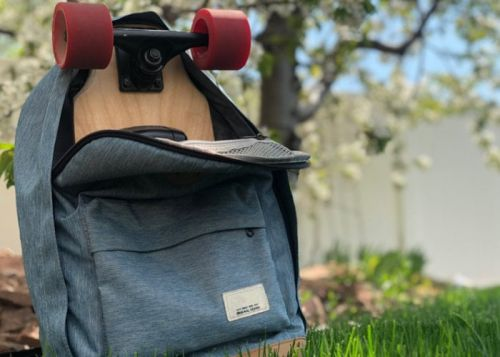 Apa compact electric skateboard fits in your backpack