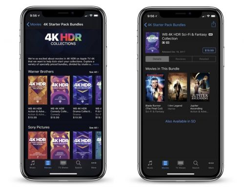 Apple Launches iTunes Sale With 4K HDR Bundles Starting at $19.99 for Three Movies