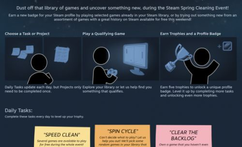 Steam's Spring Cleaning event is a challenge to play your pile of shame