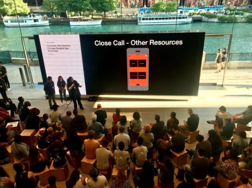 Chicago Students Present App Projects at 'Everyone Can Code' Apple Store Session