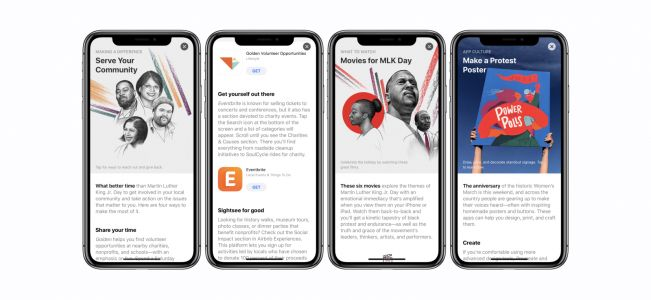 Apple offers ways to 'Serve Your Community' along with other MLK focused content