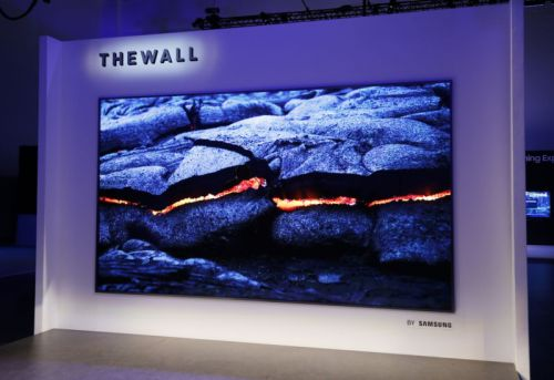 Samsung's The Wall TV is a modular 146-inch monster that uses MicroLED