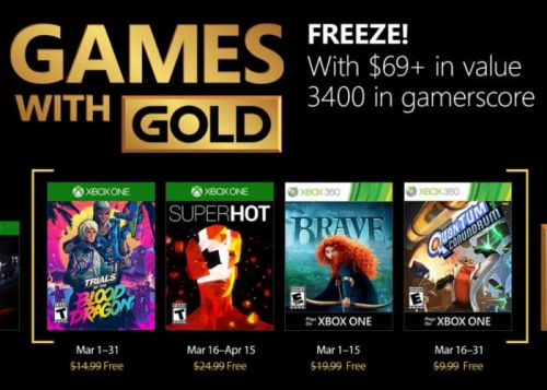 Free Xbox Games For March 2018 Unveiled For Gold Members