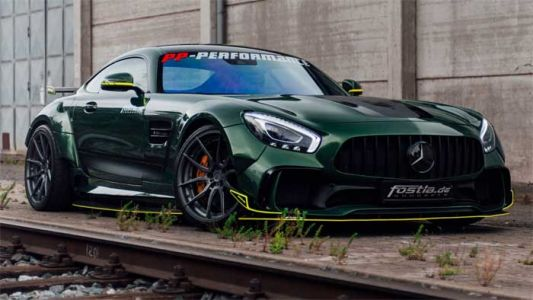Modified Mercedes-AMG GT is a Green Meanie