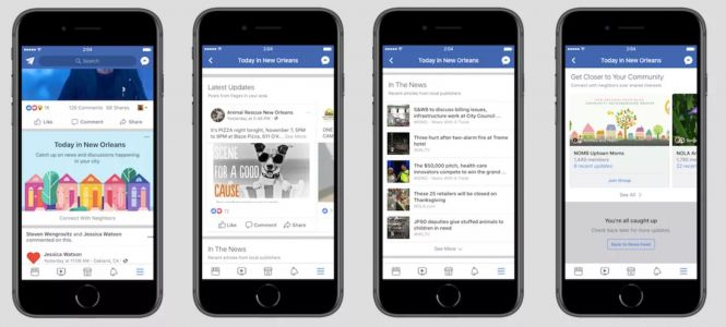 Facebook Experimenting With Promoting Local News In Its App